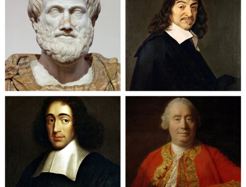 Aristoteles, Descartes, Spinoza und Hume
